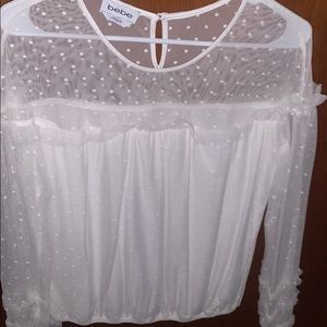 Bebe white blouse